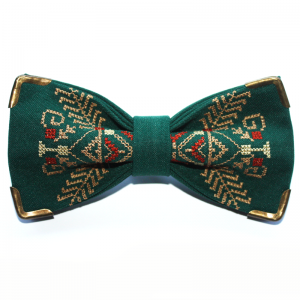 Green metallic bow tie