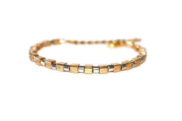 Delica cube bracelet