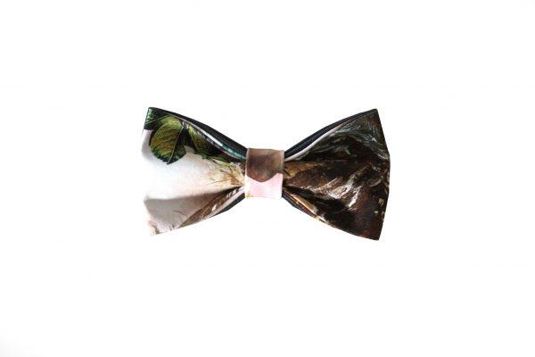 leaf print bow tie