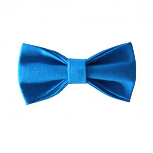 simple uni blue bow tie
