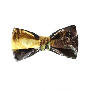yellow print bow tie